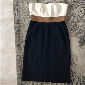 Beautiful Navy and Taupe Dress